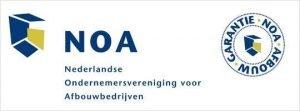 Logo van NOA afbouwbedrijven garantie